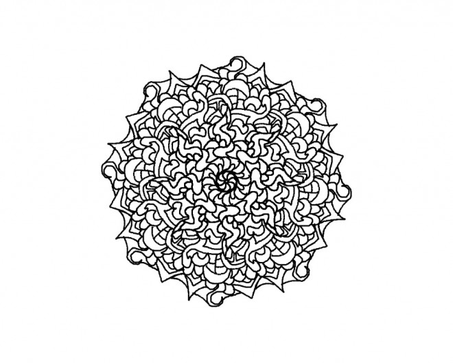 Coloriage et dessins gratuits Mandala Marguerite à imprimer