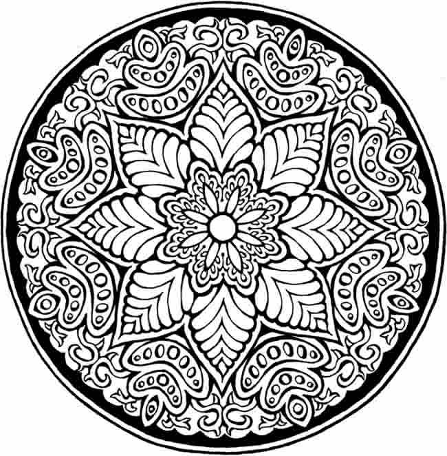 coloriage rose mandala difficile dessin gratuit imprimer. Black Bedroom Furniture Sets. Home Design Ideas