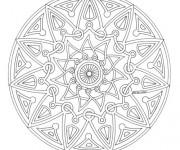 Coloriage dessin  Adulte Mandala 49