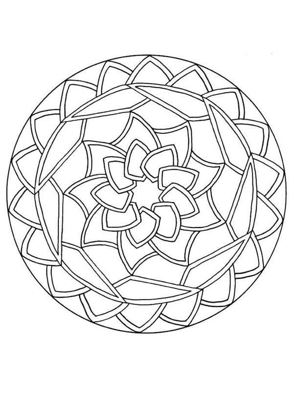 Coloriage et dessins gratuits Beau Mandala En Ligne à imprimer