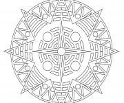 Coloriage Étoile Mandala En Ligne