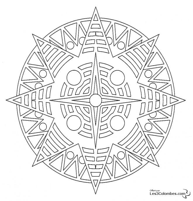 Coloriage De Mandala Etoile.Coloriage Etoile Mandala En Ligne Dessin Gratuit A Imprimer