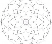 Coloriage Fleur Mandala En Ligne