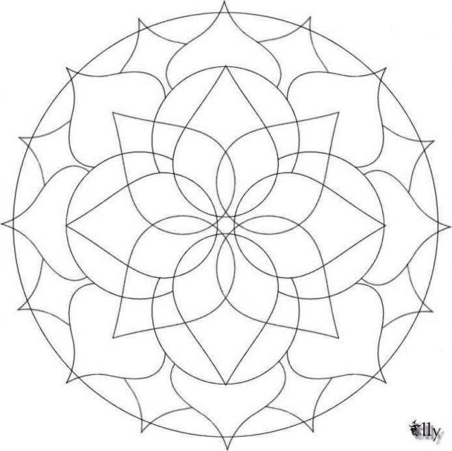 Coloriage et dessins gratuits Fleur Mandala En Ligne à imprimer
