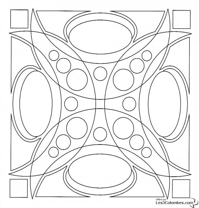 Coloriage Mandala 3D En Ligne dessin gratuit à imprimer
