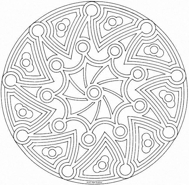 Coloriage mandala artistique en ligne dessin gratuit imprimer - Coloriage mandala en ligne ...
