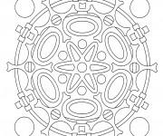 Coloriage Mandala Atome En Ligne