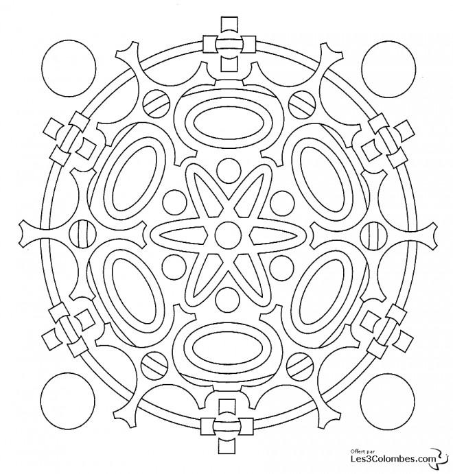 Coloriage et dessins gratuits Mandala Atome En Ligne à imprimer