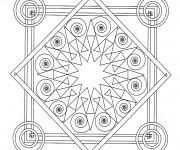 Coloriage et dessins gratuit Mandala Carreau Adulte à imprimer