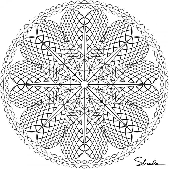Coloriage mandala coeurs en ligne dessin gratuit imprimer - Mandala coloriage en ligne ...