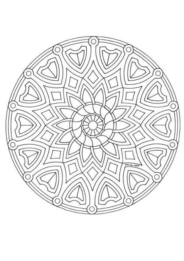 Coloriage et dessins gratuits Mandala Créative En Ligne à imprimer