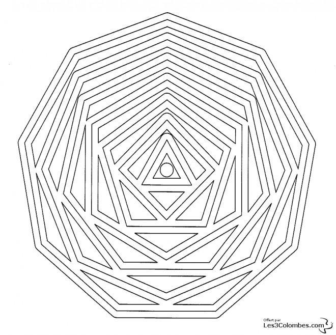 Coloriage Mandala Cylindrique En Ligne Dessin Gratuit A Imprimer