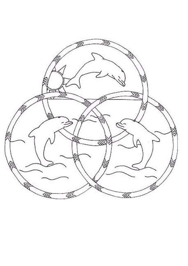 Coloriage Imprimer Mandala Dauphin.Coloriage Mandala Dauphins En Ligne Dessin Gratuit A Imprimer