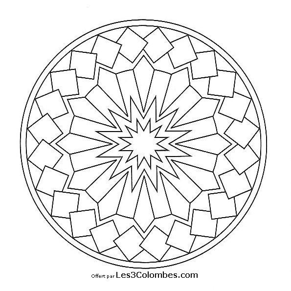 Coloriage et dessins gratuits Mandala dessin Facile à imprimer