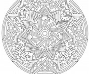 Coloriage dessin  Mandala Difficile 28