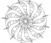 Coloriage Mandala  Difficile pour relaxer