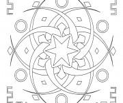 Coloriage dessin  Mandala En Ligne 10