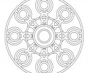 Coloriage dessin  Mandala En Ligne 11