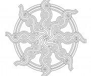 Coloriage dessin  Mandala En Ligne 12
