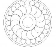 Coloriage dessin  Mandala En Ligne 13
