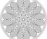 Coloriage dessin  Mandala En Ligne 14