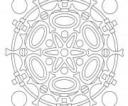 Coloriage dessin  Mandala En Ligne 2