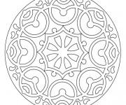 Coloriage dessin  Mandala En Ligne 3