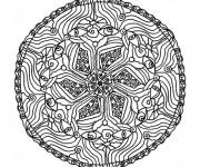 Coloriage dessin  Mandala En Ligne 4