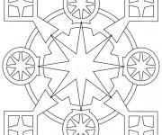 Coloriage dessin  Mandala En Ligne 5