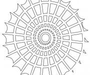 Coloriage dessin  Mandala En Ligne 6