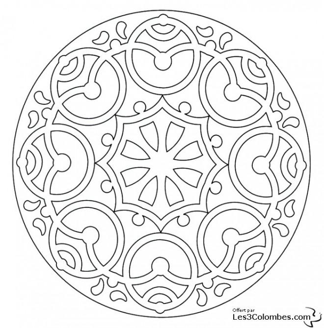 Coloriage et dessins gratuits Mandala En Ligne à télécharger à imprimer