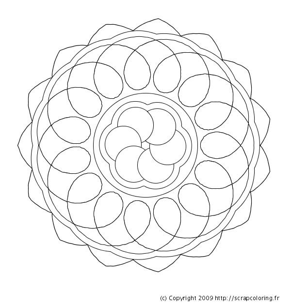 Coloriage mandala en ligne circulaire dessin gratuit imprimer - Coloriage mandala en ligne ...