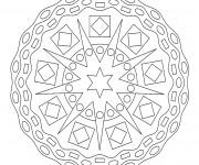 Coloriage Mandala En Ligne dimensionnel