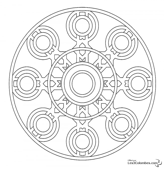 coloriage mandala en ligne en couleur dessin gratuit imprimer. Black Bedroom Furniture Sets. Home Design Ideas