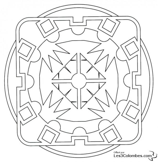Coloriage et dessins gratuits Mandala En Ligne gratuit à imprimer