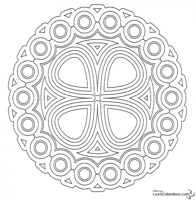 Coloriage et dessins gratuits Mandala En Ligne magnifique à imprimer
