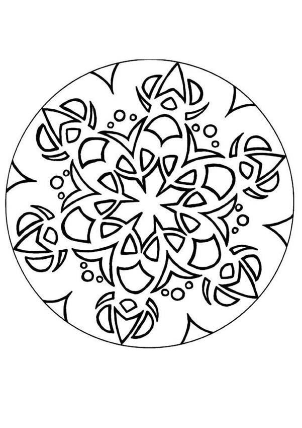Coloriage et dessins gratuits Mandala En Ligne vecteur à imprimer
