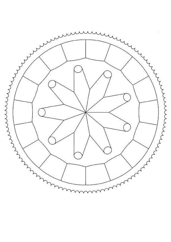 Coloriage et dessins gratuits Mandala étoile facile pour enfant à imprimer