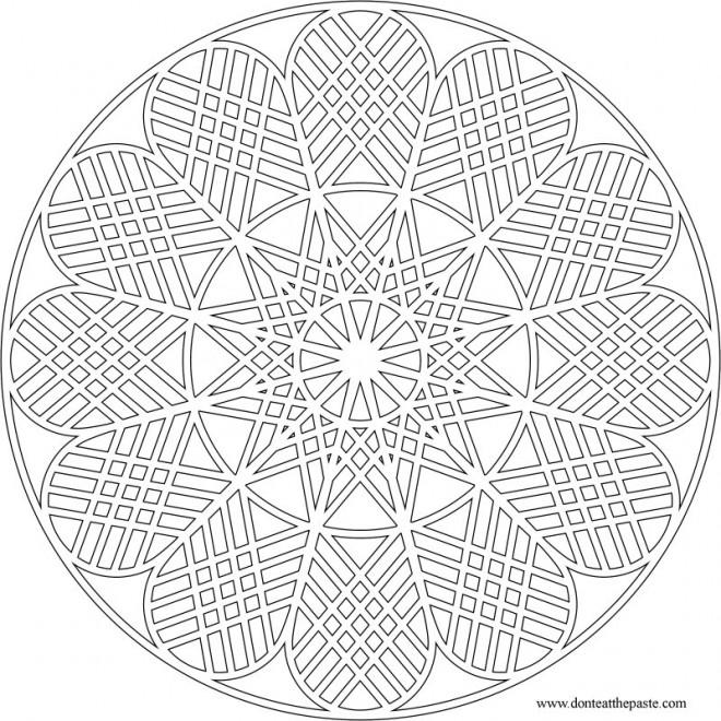Coloriage mandala fleur multi p tales en ligne - Coloriage fleur 8 petales ...