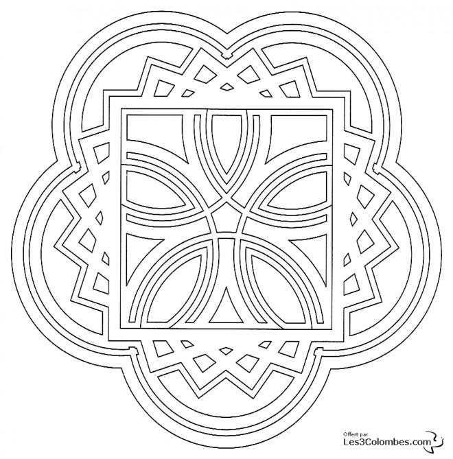 Coloriage et dessins gratuits Mandala Formes En Ligne à imprimer