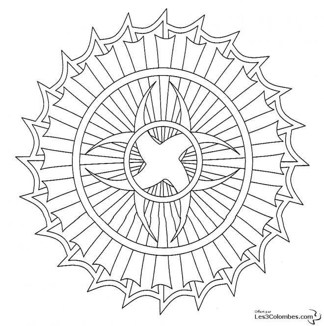 Coloriage et dessins gratuits Mandala Intersection En Ligne à imprimer