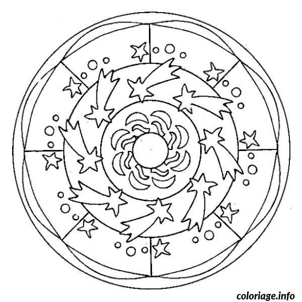 Coloriage et dessins gratuits Mandala L'univers En Ligne à imprimer