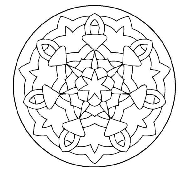 Coloriage Mandala Magique En Ligne Dessin Gratuit A Imprimer