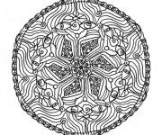 Coloriage Mandala noir En Ligne