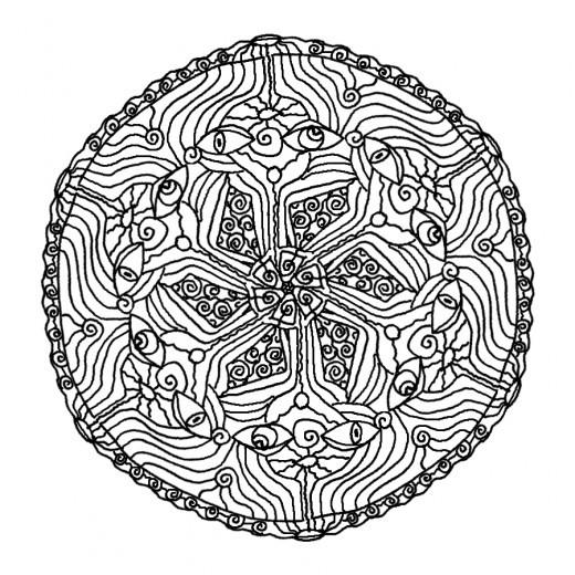 Coloriage Mandala Noir En Ligne Dessin Gratuit A Imprimer