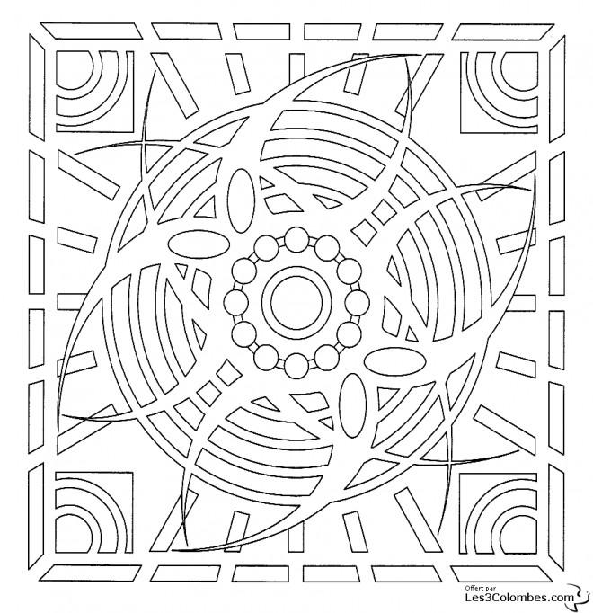 Coloriage et dessins gratuits Mandala Oeil Adulte à imprimer