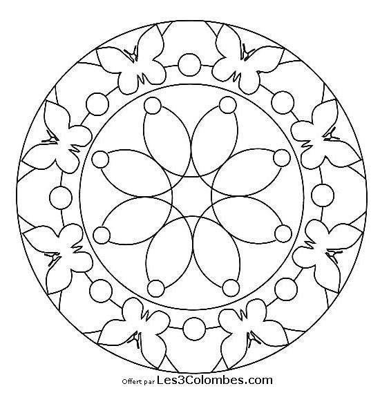 Coloriage Mandala Papillon à Compléter