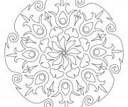 Coloriage Mandala Pétale de Fleurs pour Adulte