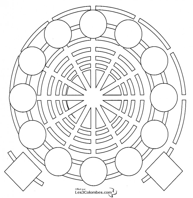 Coloriage Adulte Spirale.Coloriage Mandala Spirale En Ligne Dessin Gratuit A Imprimer
