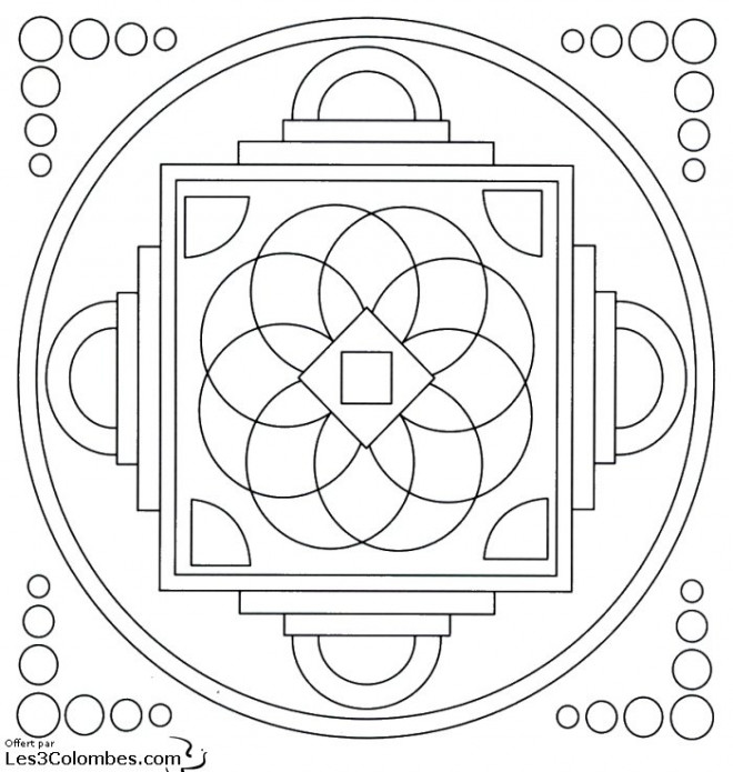 Coloriage et dessins gratuits Mandala stylisé En Ligne à imprimer